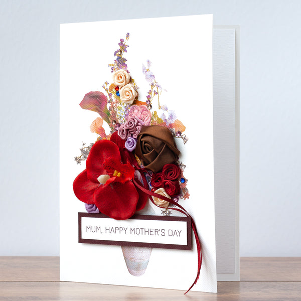 Luxury Boxed Mother's Day Card 'Vintage Bouquet'