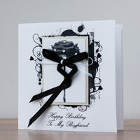 Handmade Birthday Card 'Black Rose'