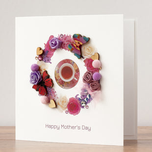 Handmade Mother's Day Card 'Afternoon Tea'