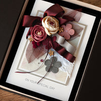 Luxury Boxed Handmade Card 'Elegance'
