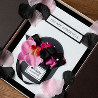 Luxury Boxed Valentines Card 'Box of Flowers - Pink'
