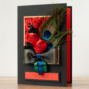 A5 Boxed Handmade Valentines Card 'Fantasia'