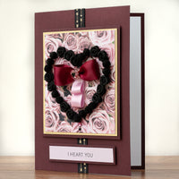 Luxury Boxed Valentines Card 'I Heart You'