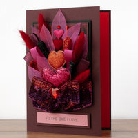 Luxury Boxed Valentines Card 'Hearts and Bows'