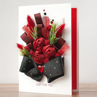 Luxury Boxed Handmade Card 'Affection'