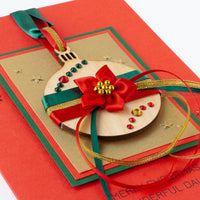 Luxury Boxed Christmas Card 'Glittering Bauble'