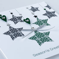 Handmade Christmas Card 'Shooting Stars'