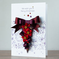 Luxury Boxed Christmas Card 'Festive Garland'