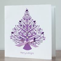 Handmade Christmas Card 'Merry and Bright'