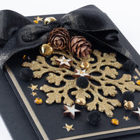 Luxury Boxed Christmas Card 'Gold Snowflake'