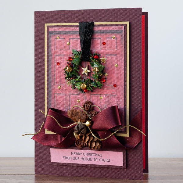 Luxury Boxed Christmas Card 'Merry Christmas From Our House To Yours'