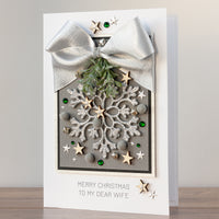Luxury Boxed Christmas Card 'Silver Snowflake'