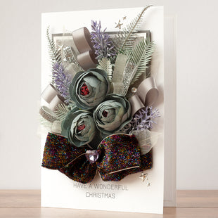 Luxury Boxed Christmas Card 'Winter Bouquet'