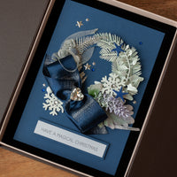 Luxury Boxed Christmas Card 'Frozen Wreath'