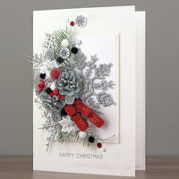 Luxury Boxed Christmas Card 'Festive Swag'