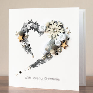 Handmade Christmas Card 'Festive Heart'