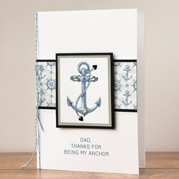 Luxury Boxed Father's Day Card 'Anchor'