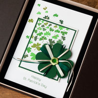 Luxury St. Patrick's Day Card 'Lucky Shamrock'
