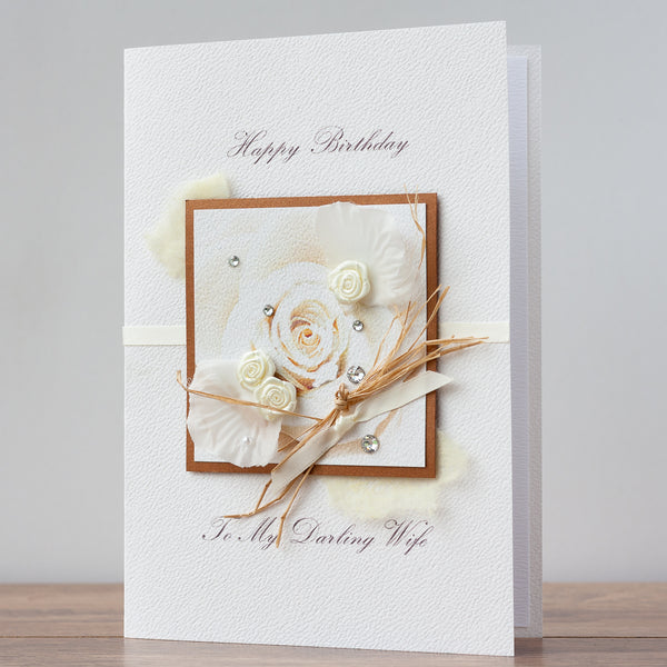 Luxury Boxed Birthday Card 'Garden Rose'