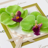 Luxury Boxed Engagement Card  'Orchids'