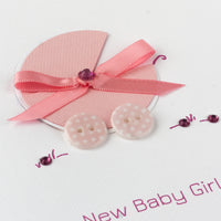 Handmade New Baby Card 'New Baby Girl'