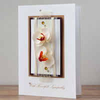 Luxury Boxed Sympathy Card 'With Heartfelt Sympathy'
