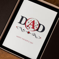 Luxury Boxed Father's Day Card  'DAD'