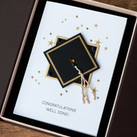 Luxury Boxed Graduation Card 'Well Done!'