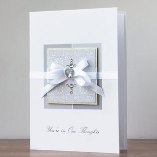 Luxury Boxed Sympathy Card 'You're in our Thoughts'