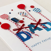 Luxury Boxed Father's Day Card  'Father's Day Balloons'