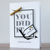 Luxury Boxed Graduation Card 'Graduation Celebrations'