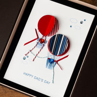 Luxury Boxed Father's Day Card  'Air Balloons'