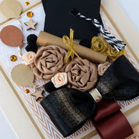 Luxury Boxed Graduation Card 'Graduation Bouquet'