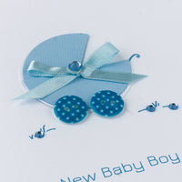 Handmade New Baby Card 'New Baby Boy'