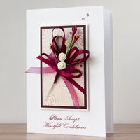 Luxury Boxed Sympathy Card 'Heartfelt Condolences'