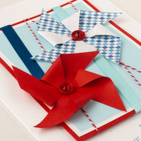 Luxury Boxed Father's Day Card  'Windmills'