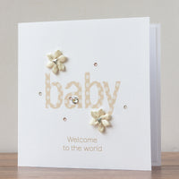 Handmade New Baby Card 'Baby Joy'