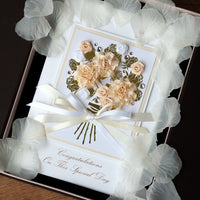 Luxury Boxed Wedding Card 'Wedding Bouquet'