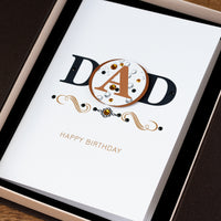 Luxury Boxed Birthday Card 'Happy Birthday Dad'