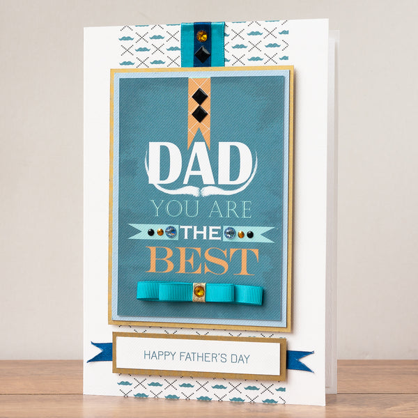 Luxury Boxed Father's Day Card  'The Best Dad'