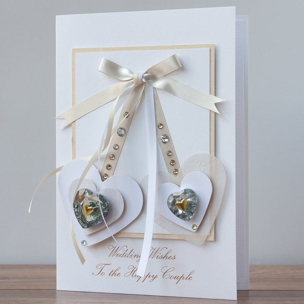 Luxury Boxed Wedding Card  'Pair of Love'