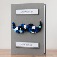 Luxury Boxed Father's Day Card 'Moustache'
