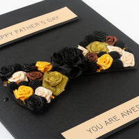 Luxury Boxed Father's Day Card  'Bow Tie'