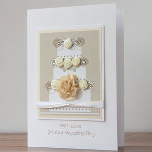 Luxury Boxed Wedding Card 'Wedding Cake'