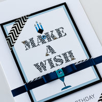 Luxury Boxed Birthday Card 'Make a Wish'