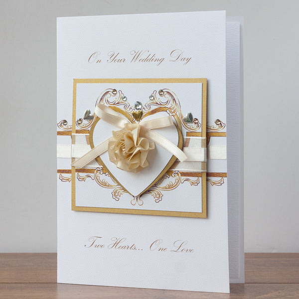 Luxury Boxed Wedding Card 'Wedding Rococo'