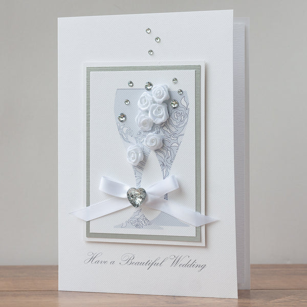 Luxury Boxed Wedding Card 'Wedding Toast'