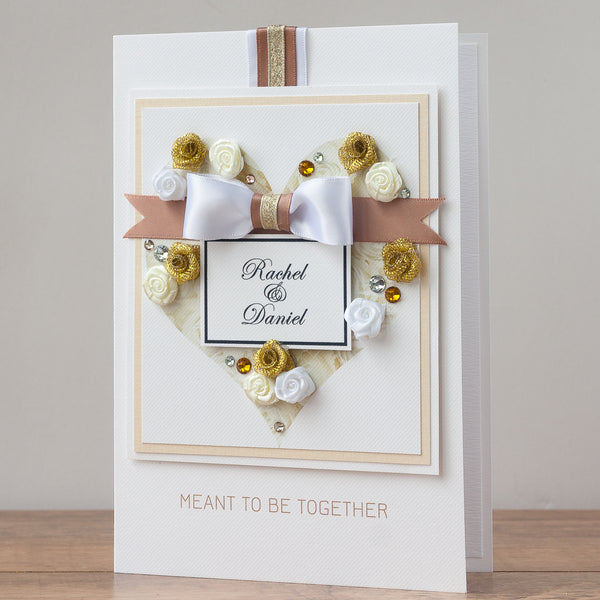 Luxury Boxed Wedding Card 'Meant To Be Together'