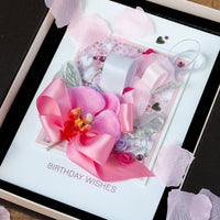 Luxury Boxed Birthday Card 'Pink and Posh'