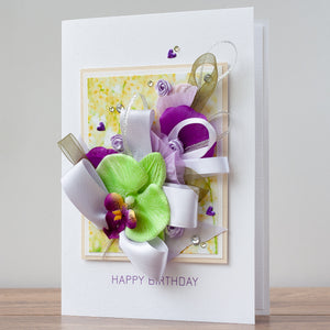 Luxury Boxed Birthday Card 'Fiesta'